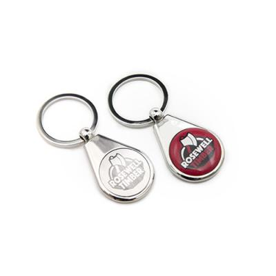 Image of Luxury Feel Key Ring With Chrome Body  Laser Engraved
