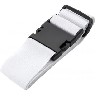 Image of Polyester luggage belt with plastic buckle.