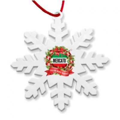 Image of Recycled Snowflake Christmas Tree Decoration